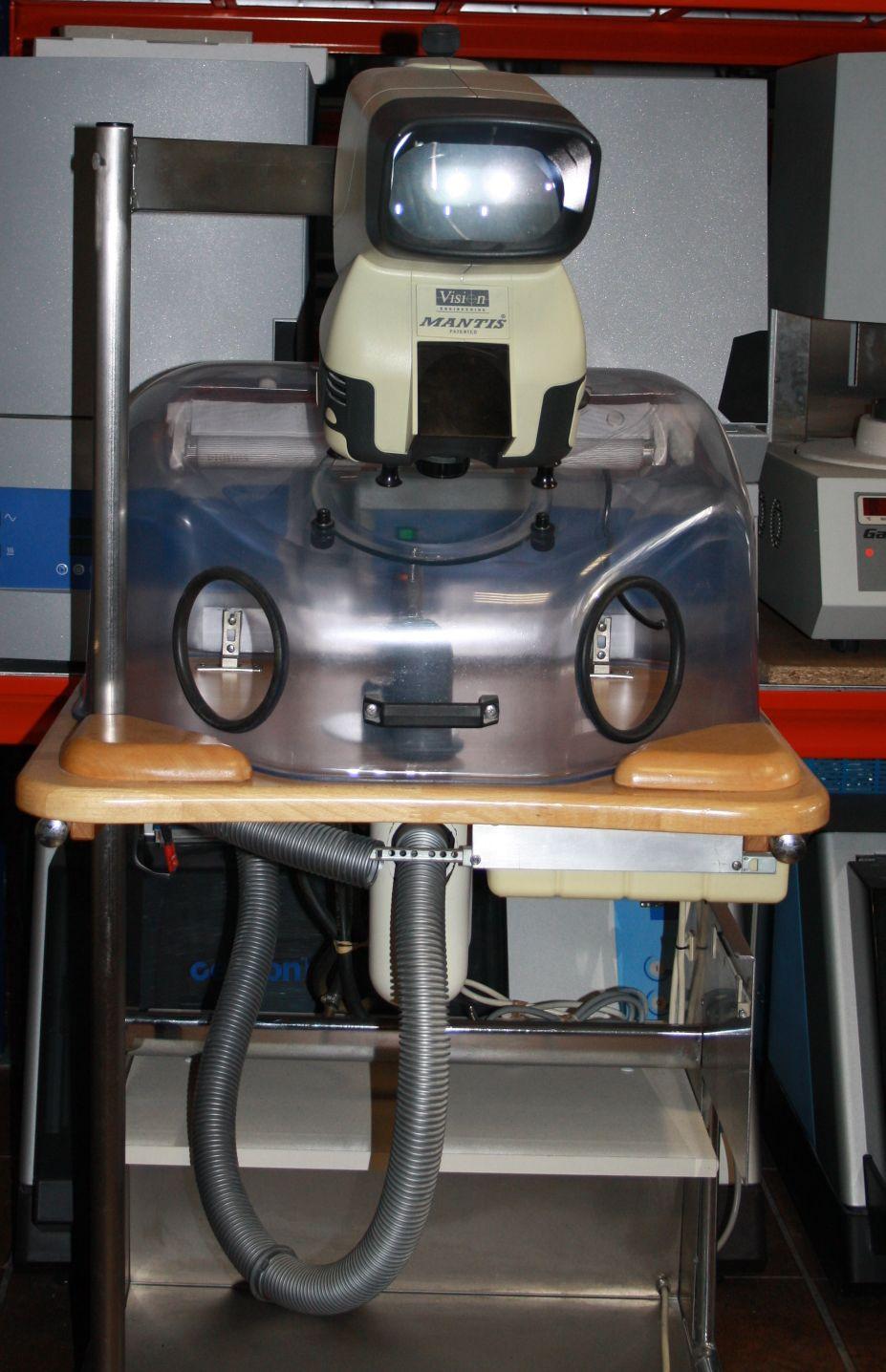 Reitel Schleif/Absaugbox mit integriertem Mantis Mikroskop # 4456