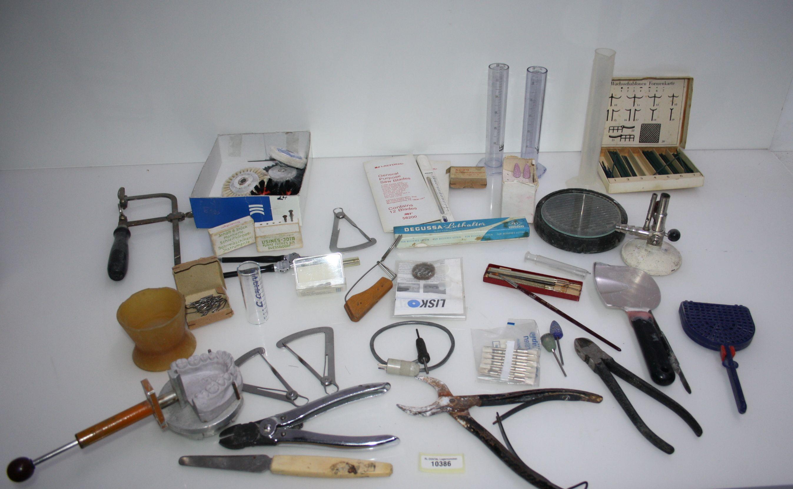 Dentallabor-Restposten - diverse Werkzeuge für die Zahntechnik # 10386