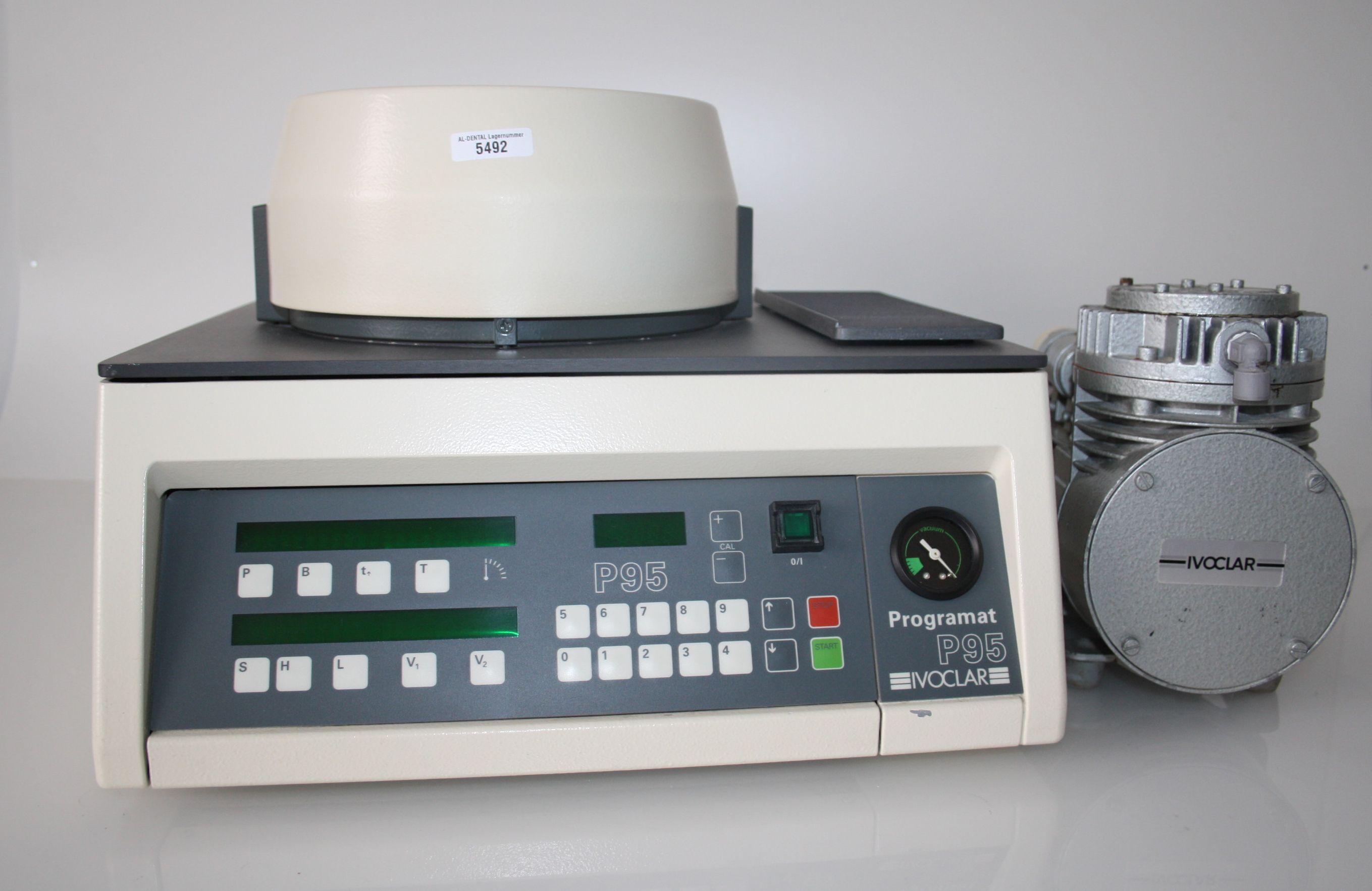 IVOCLAR Keramikbrennofen Programat P 95 mit Vakuumpumpe # 5492