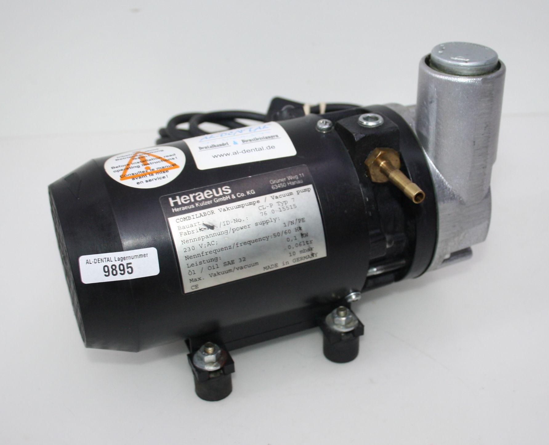 HERAEUS Vakuumpumpe Typ CL-P # 9895