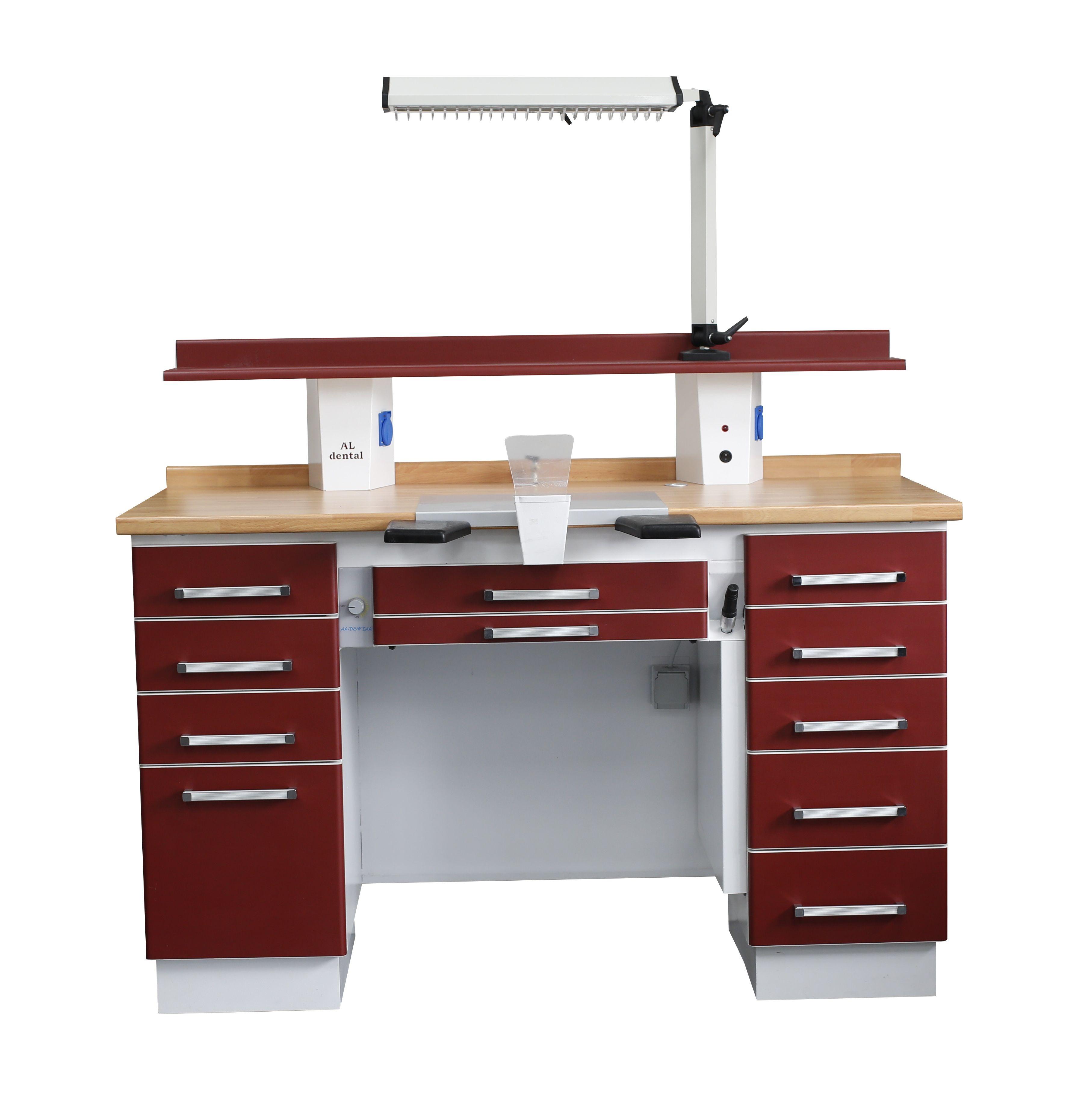 Dental-Labortisch - Einzelarbeitsplatz Techniktisch Labormöbel + Absaugung NEU