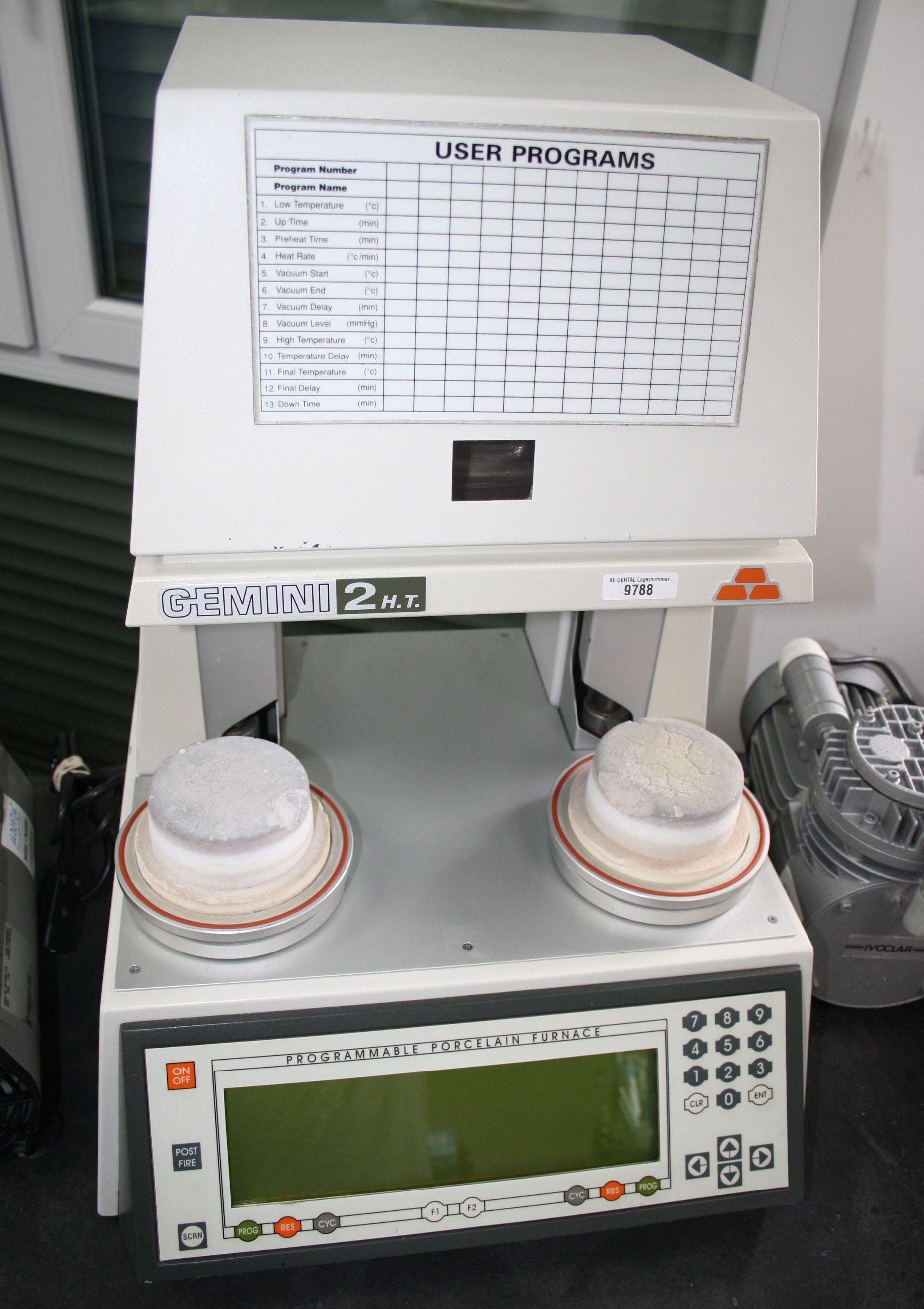 GEMINI 2-Kammer-Keramikofen Typ 2H.T. + Vakuumpumpe shenpaz # 9788