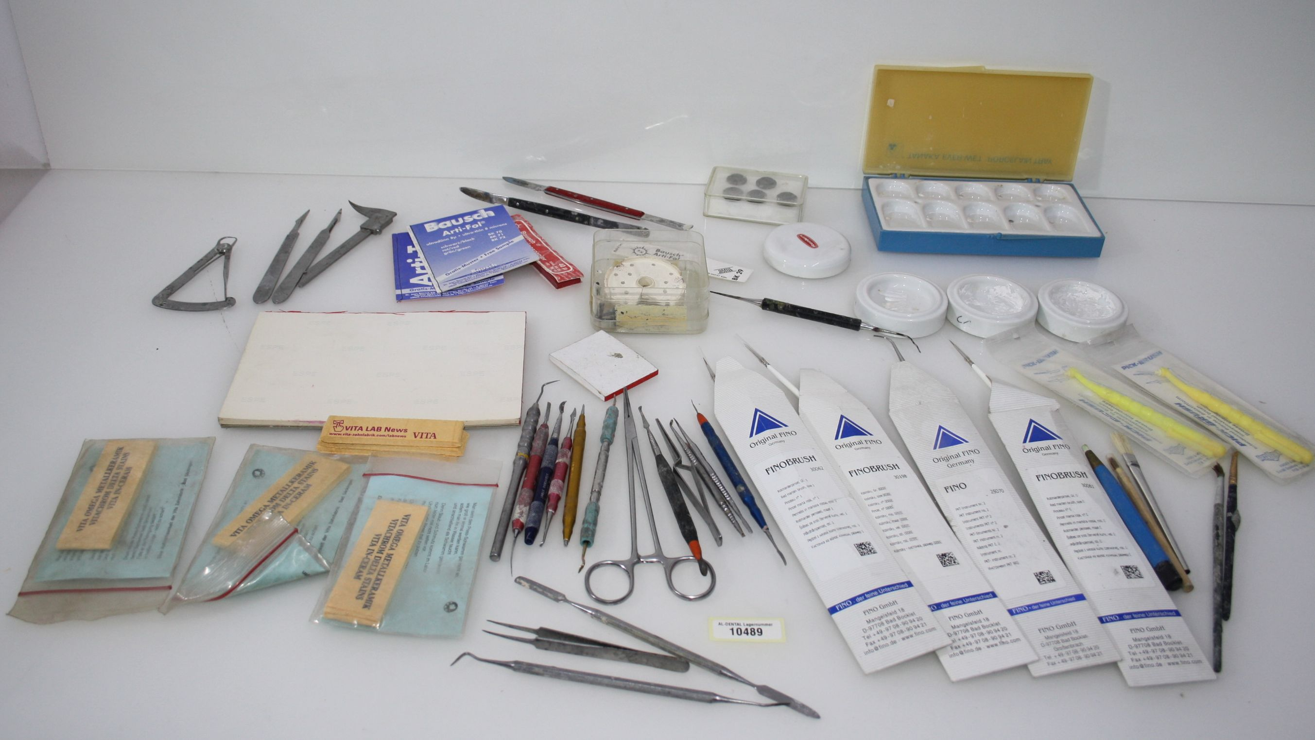 Dentallabor-Restposten - diverse Werkzeuge für die Zahntechnik # 10489