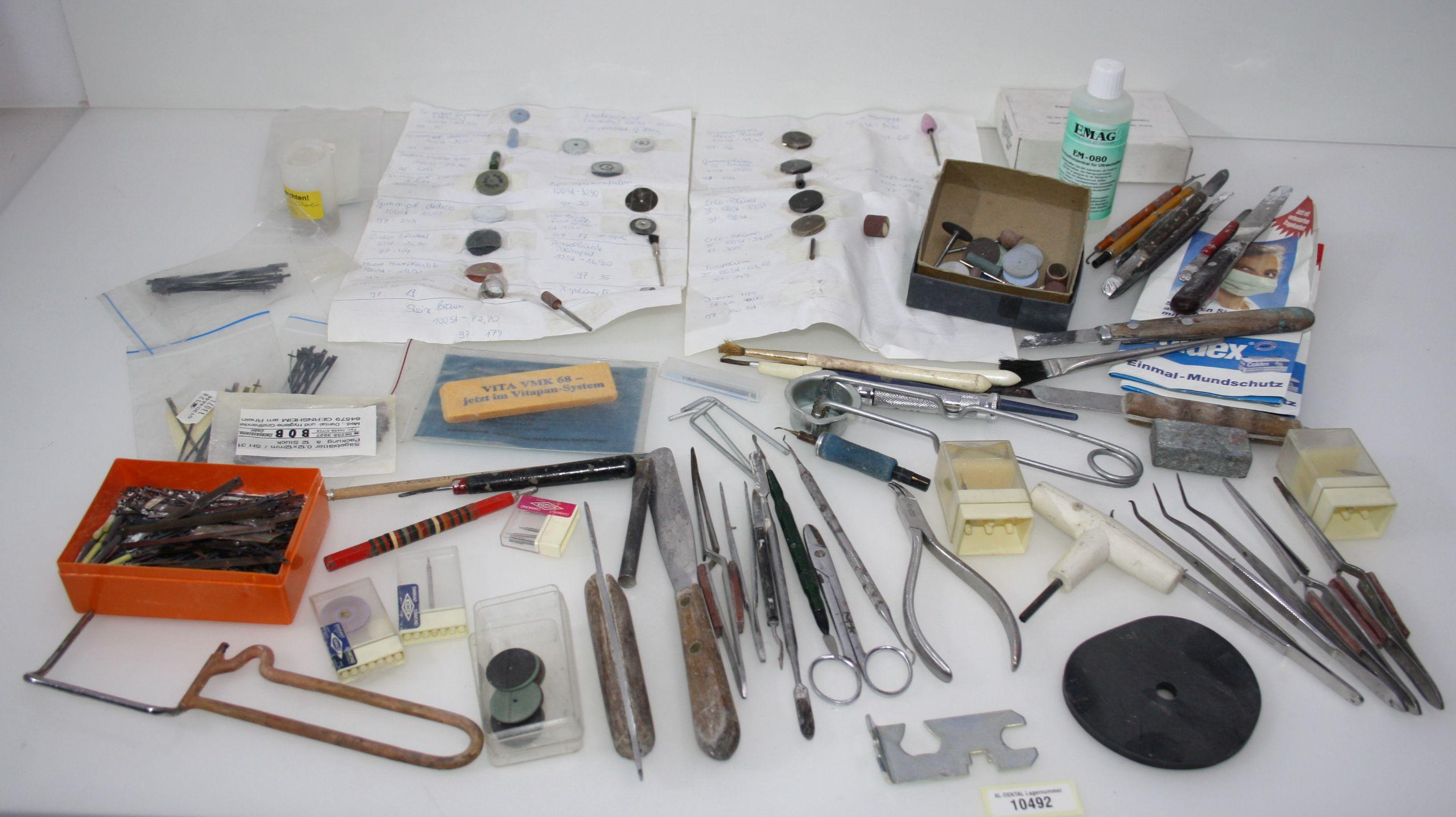 Dentallabor-Restposten - diverse Werkzeuge für die Zahntechnik # 10492