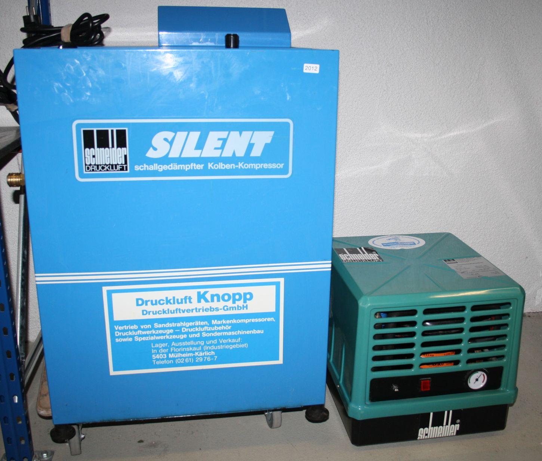 Schneider Kolbenkompressor Silent 360 W mit Schalldämmung # 2012